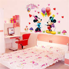chambre enfant minnie bande dessinée minnie mickey mouse commutateur stickers muraux