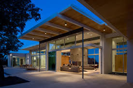 Modern Exterior Sliding Glass Doors by Brownwood Residence Dick Clark Associates Austin Tx