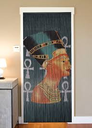 bamboo beaded curtain hand painted nefertiti beads of paradise