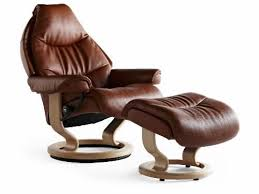 Recliner Chair With Ottoman Stressless Voyager Medium Recliner Chair With Ottoman By Ekornes