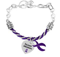 charm bracelet silver charms images Epilepsy awareness rope and silver charm bracelet png