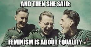 And Then I Said Meme - and then she said feminism isabout equality meme on esmemes com