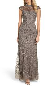 papell dress papell embellished mesh gown nordstrom