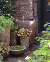 Container Water Garden Fountain Gentle Splash Fountain Martha Stewart