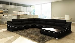 canape d angle noir et blanc deco in canape d angle en cuir noir et blanc design roxane