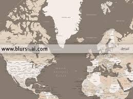 Large Framed World Map by Printable World Map With Cities Labelled Large 36x24