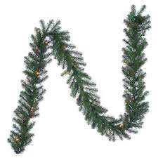 trim a home northern pre lit garland with multi lights 9 ft