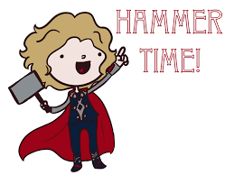 thor hammer time by saladsalty on deviantart