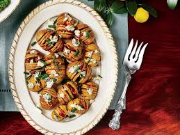 baby hasselback potatoes with blue cheese and bacon southern living