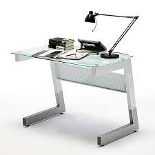 bureau 100 cm bureau design avec plateau en verre noir luigi