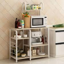 kitchen cupboard storage ideas ebay details about kitchen rack microwave oven floor shelf storage cupboard with wheels shelving