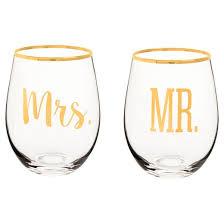 Wine Glasses Mr U0026 Mrs