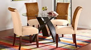 Del Mar Ebony  Pc Round Dining Set Dining Room Sets Black - Black round dining room table