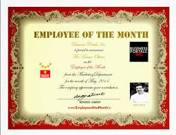 employee of the year certificate