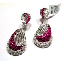 s gold earrings designer gold diamond earrings at rs 325000 s heere ki