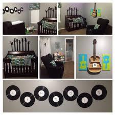 Bedroom Ideas For Music Lovers Lincoln U0027s Guitar Rock In Roll Themed Nursery Lincoln U0027s Nursery