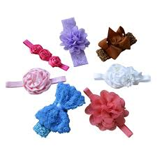 headbands with bows baby girl headbands with bows mixed style b 7pcs mommydaddy me llc