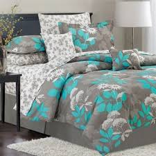 Crest Home Design Emilie Teal 10 Piece Bedding Set forters
