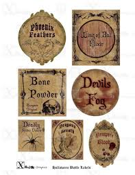 halloween lables haunted halloween spooky bottle labels i by alexj579 on deviantart