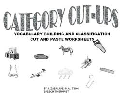 category cut ups vocabulary building and classification cut n