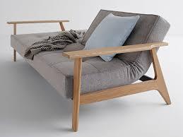 canapé tissus convertible canapé convertible en tissu avec pieds et accoudoirs en bois