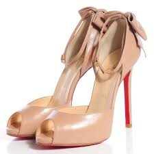 christian louboutin leather dos noeud bow 120 peep toe pumps 36