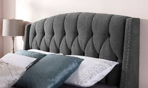 elegant tufted upholstered headboard with nailheads 72 in tufted