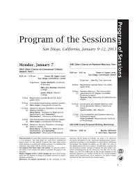 program of the sessions joint mathematics meetings