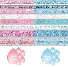 Baptism Party Decorations Christening Party Supplies Ebay