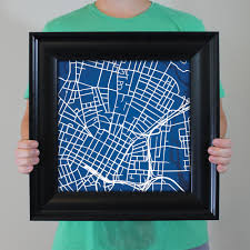 Cal State Fullerton Campus Map by Yale University Campus Map Art City Prints