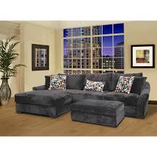Sectional Sofa With Ottoman Fairmont Designs Made To Order Audrey 3 Piece Ebony Sectional Sofa