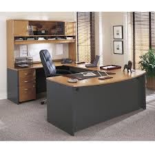 bush executive desk series c corsa u shaped natural cherry ships free
