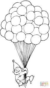 hundred of balloons coloring page free printable coloring pages