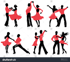 a couple dancing tango cartoon clipart vector toons set silhouettes dancing couple stock vector 48604951 shutterstock