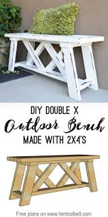 Free Building Plans For Outdoor Furniture by Double X Bench Plans Porch Free And Diy Furniture