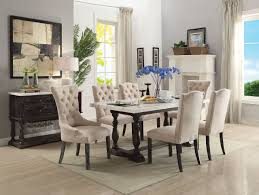 gerardo marble top dining table 60820 in weathered espresso