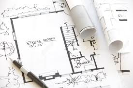 architect rolls and plans architectural plan stock photo picture