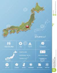 japan map and travel infographic template design stock vector