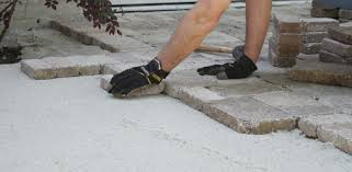 Making A Paver Patio by Tips For Laying A Paver Patio Today U0027s Homeowner
