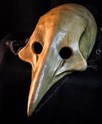 plague doctor s mask plague doctor bone carnaval leather mask by plaguedoctorworkshop
