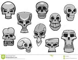 cartoon human scary halloween skulls stock vector image 45298661