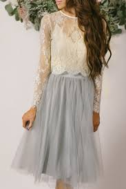 amelie longsleeve ivory lace crop top christmas tulle