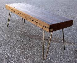 Wood Bench Metal Legs Reclaimed Wood Bench Table Loccie Better Homes Gardens Ideas