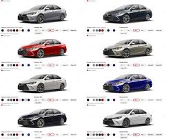 2011 toyota camry colors toyota camry colors 2018 2019 car release and reviews