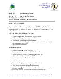 Merchandiser Job Description Resume Server Duties On Resume Resume For Your Job Application