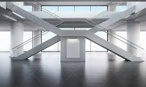 x au bureau bureau intérieur du bâtiment escaliers croisés en forme de x les