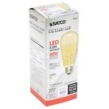 Led Light Bulbs 40 Watt Equivalent by Satco S9578 4 5 Watt 40 Watt Equivalent Transparent Amber Led
