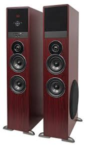 kenwood home theater rockville tm80c cherry powered home theater tower speakers 8