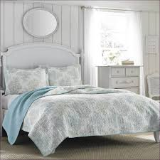 bedroom blue and white bedding black and tan comforter cool bed