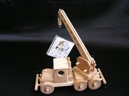 mobile crane with moving arm wooden toy wooden natural toys